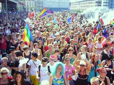 Best Gay Pride in Europe - Gay Pride in Stockholm. More on http://www.europeanbestdestinations.com/top/best-gay-pride-in-europe #Gay #Lesbian #Travel #Europe #Stockholm