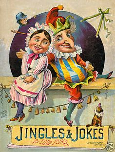 """Punch and Judy...""""Jingles and Jokes For Little Folks"""" Book. Mc Loughlin Bros.,NY."""