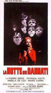 """La notte dei dannati (1971, Filippo Ratti) arriva in censura il 31 luglio 1971, in una copia dalla lunghezza dichiarata di 2500 metri (91' circa): quella effettiva è 2364 (86'10"""")."""