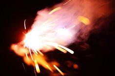 brightness of fireworks