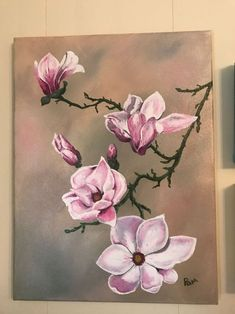 Japanese Magnolia 2017 Acrylic Painting By Pamela Long Buy Japanese Magnolia Acrylic Painting By Pamela Long Cauley On Artfinder Discover Thousands Of Other Original Paintings Prints Sculptures And Photography From Independent Artists Cute Paintings, Original Paintings, Original Art, Magnolia Paint, Magnolia Flower, Art Floral, Japanese Magnolia, Long Painting, Leaf Wall Art
