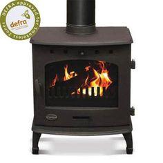 Carron 4.7 kW Matt Black DEFRA Multi Fuel Wood Burning Stove