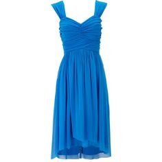Blue Mesh Hi Low Dress found on Polyvore