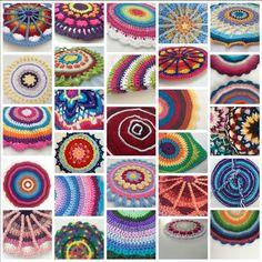 MandalasForMarinke one month of #crochet mandala contributions