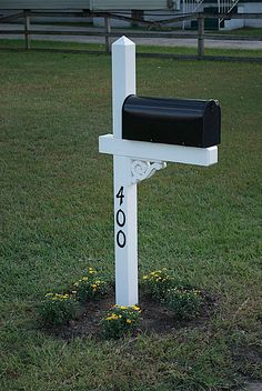 Mailbox - number on post