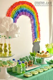 Be Different...Act Normal: St. Patrick's Day Party Ideas [Rainbow Backdrop]