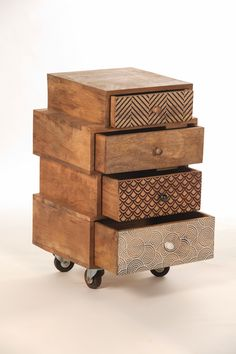 commode bois métal multi-tiroirs | meubles moderne | pinterest ... - Meuble D Appoint Design