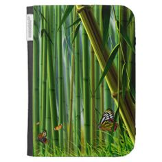 Bamboo & Butterfly Art 1 Kindle Case
