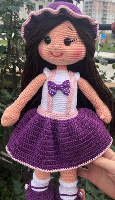 Free and Best Amigurumi Crochet Pattern Models and How to Make! amigurumi for beginners; amigurumi for beginners; Doll Amigurumi Free Pattern, Crochet Dolls Free Patterns, Crochet Doll Pattern, Amigurumi Doll, Doll Patterns, Crochet Toys, Crochet Baby, Pattern Ideas, Crochet Ideas