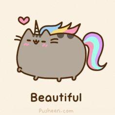 Pusheen, the beautiful unicorn.