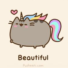 Pusheen, the beautiful unicorn.