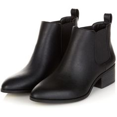 Black Pointed Chelsea Boots
