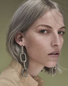 Miriam Haney by Manolo Campion for Neue Journal Earrings by Alexander Wang