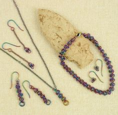 Peacock Niobium Necklace, Bracelet and several styles of earrings....perfect for sensitive skin and for anyone who loves unique color!