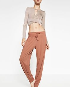 Image 4 of FLOWING BALLET TROUSERS from Zara