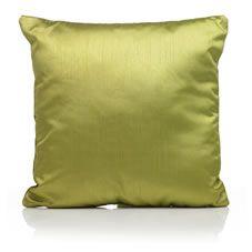 Wilko Paris Faux Silk Cushion Green 43 x 43cm