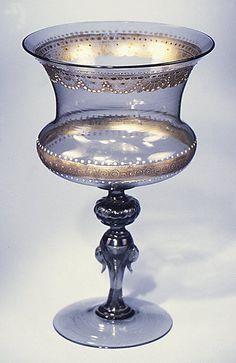 Goblet, 19th Century Italian, Venice (Murano) Art-Glass ♥≻★≺♥