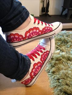 Sharpie decorated canvas shoes!!
