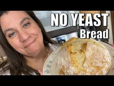 How to make bread with no yeast. This is not and Irish soda bread, but uses baking powder, not baking soda. Only 4 simple ingredients in this no yeast bread. Homemade Bread Without Yeast, No Yeast Bread, Yeast Bread Recipes, Bread Baking, Cornbread Recipes, Jiffy Cornbread, Baking Soda, Bisquick Recipes, Rock Crock Recipes