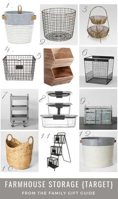 Farmhouse Storage Ideas from Target. Farmhouse storage for toys, pantry, magazines, living room, bedroom. Organize your house with Farmhouse Storage Ideas. Target Organization, Small Space Organization, Home Organization Hacks, Storage Hacks, Toy Storage, Closet Organization, Storage Ideas, Storage Organizers, Record Storage