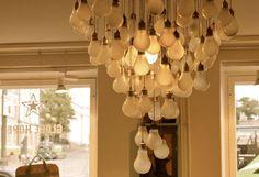 Light bulb lamp at Globe Hope store