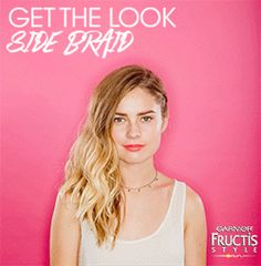 To get this must-have festival look, use Garnier Fructis Beach Chic to create loose waves. Add Texture Tease Spray for airy fullness. Pull hair into a Side French Braid and add Curl Spray Gel for shape and hold. Finish with Sleek and Shine Anti-Humidity Hairspray to keep hair frizz-free. Find more festival looks @garnierusa