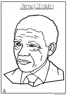 famous people coloring pages nelson mandela