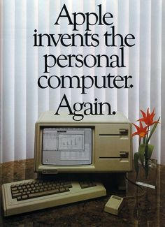 This Apple Lisa Advertisement from 1983 struck me as such a blast from the past, but at the same time had such a familiar quality. It occurred to me that Apple could come out with an ad tomorrow using the same headline and it would still be relevant to their brand.