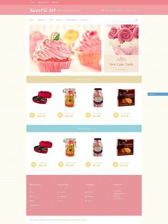The Sweetest Cupcake & Cake Decoration Store Themes for Shopify - SweetArt (theme for Shopify) Item Picture
