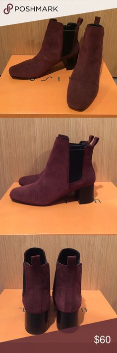 🎀 Host Pick - Zara Burgundy Ankle Booties Excellent condition. Only worn once. Beautiful shade of maroon / burgundy perfect for the fall and winter. Make me an offer! :) Zara Shoes Ankle Boots & Booties