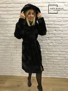 632f378f619c Fur Coat, Real Fur Jacket, Black Fur Coat, Rabbit Fur Coat, Rabbit Coat,  МЕХА, Best Present, Black S
