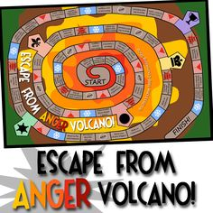 This volcano/treasure-hunting-themed game contains 150 cards to improve #empathy and #anger management skills in students with #bipolar disorder, #ODD (oppositional defiant disorder), or other emotional difficulties.