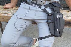 Cool leg holster for 7-8´´ tablets (iPad mini), even big phones like iPhone 7 plus, keys, wallet #lightweight #seveninch #gadget #tablet #hip #bum #belt #leg #holster #bag #myurbantool