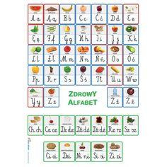Zdrowy alfabet - plakat z literami - iPomoce