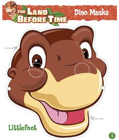 The Land Before Time Fan Page (The Land Before Time) - Masks of Littlefoot and his friends Dinasour Birthday, Dinosaur Birthday Party, 3rd Birthday Parties, Birthday Fun, Birthday Party Decorations, Dinosaur Party Supplies, Land Before Time, Kid Picks, Time Kids