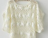 Womens Tube Top Hairpin Crochet  Lace Blouse Summer Beach Cover Up