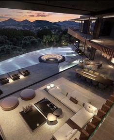 Mansion Interior, Dream House Interior, Luxury Homes Dream Houses, Home Room Design, Dream Home Design, Modern House Design, Millionaire Homes, Mansions, House Styles