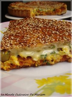 Absolutely but absolutely necessary, imperative: Tourte-Burger - The culinary world of Meriem . I Love Food, Good Food, Yummy Food, Pizza Burgers, Salty Foods, Quiches, Omelettes, Ramadan Recipes, Snacks
