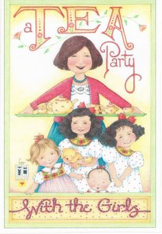 Tea Party with The Girls Tea Set Fridge Card Insert Magnet Mary Engelbreit Art | eBay