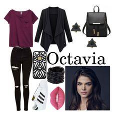 """Octavia Blake"" by creativangel on Polyvore featuring Mode, Topshop, H&M, adidas, Hervé Léger, Saachi und Lime Crime"