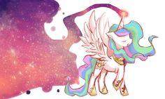 Celestial by ~cheerubi on deviantART Princesa Celestia, Celestia And Luna, Mlp My Little Pony, My Little Pony Friendship, My Little Pony Pictures, Pics Art, Cute Art, Pretty In Pink, Artsy