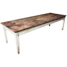 Rustic French Country Farm Table | From a unique collection of antique and modern farm tables at https://www.1stdibs.com/furniture/tables/farm-tables/