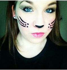 Costume cat Halloween makeup