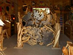 Juniper Log Bed w/ Slab Foot and Headboards