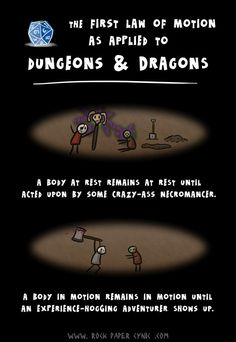 The First Law of Motion as Applied to Dungeons & Dragons - D Comics