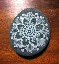 mandala painted pebble   by MagaMerlina