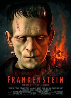 Frankenstein Poster by Brian Taylor aka Candykiller