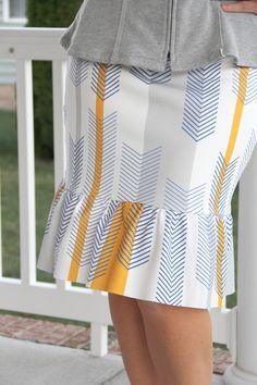 How to sew a knit ruffle pencil skirt     knit ruffle pencil skirt DIY