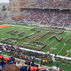 My school!!!!  marching illini | Marching Illini football game half-time performance. Photo courtesy ...