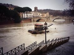 The Tiber River! Hope stop raining if not will be really a mess #Rome #Italy #floods